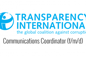 Job – Communications Coordinator (f/m/d) at Transparency International