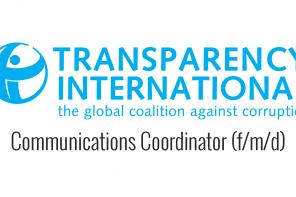 Job – Communications Coordinator (f/m/d) at Transparency International