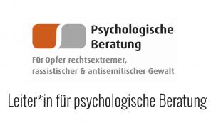 Job – Leiter_in für psychologische Beratung bei ARIBA e.V.